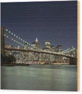 Brooklyn Bridge, New York City, Ny Wood Print by David Davis