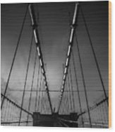 Brooklyn Bridge - Spider's Web Wood Print