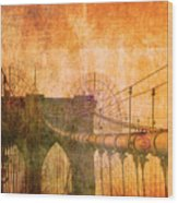 Brooklyn Bridge Vintage Wood Print