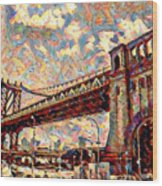Brooklyn Bridge Watercolor Wood Print