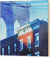 Brooklyn Bridge, New York City, December Wood Print