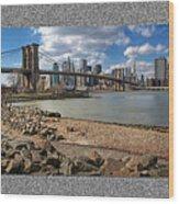 Brooklyn Bridge...triptych Wood Print