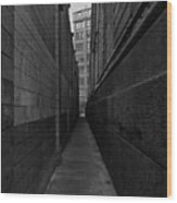 Brooklyn Dumbo Alley Wood Print