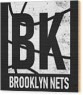 Brooklyn Nets City Poster Art Wood Print