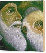 Brooklyn Rabbi Wood Print
