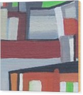 Brooklyn Roofs Wood Print