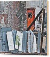 Brooklyn Scene Wood Print