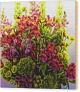 Brooklyn Sidewalk Flower Sale Wood Print