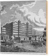 Brooklyn: Sugar Refinery Wood Print by Granger