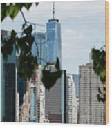 Brooklyn View Of One World Trade Center  Wood Print