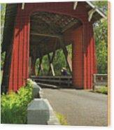 Brookwood Covered Bridge Wood Print