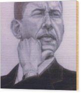 Brotha President Wood Print