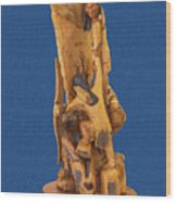 Brother 2, Carved Out Of A Dead Tree By Scott Alan Malinsky In Twin Lakes, Colorado  Wood Print