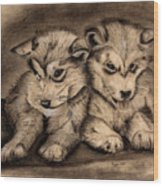 Brotherly Love Wood Print by Russ  Smith