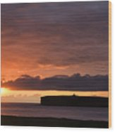 Brough Of Birsay Sunset Wood Print
