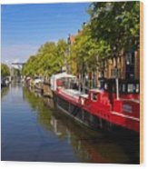 Brouwersgracht Canal In Amsterdam. Netherlands. Europe Wood Print