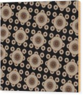 Brown And Black Mandala Pattren Wood Print