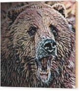 Brown Bear Wood Print