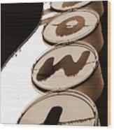 Brown Bowl Wood Print