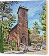 Brown Church Autumn 2 Wood Print
