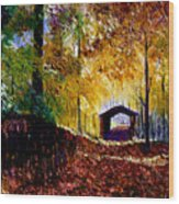 Brown County Covered Bridge Wood Print
