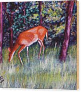 Brown County Deer Wood Print