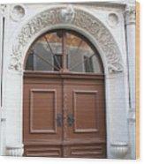 Brown Door Wood Print