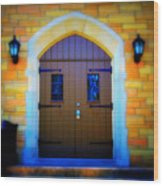 Brown Doors Wood Print