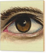 Brown Eye Wood Print