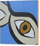 Brown Eyes Wood Print