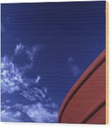 Brown Fishing Boat Wood Print