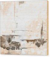 Brown Gray Abstract 12m4 Wood Print