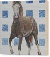 Brown Mustang Wood Print
