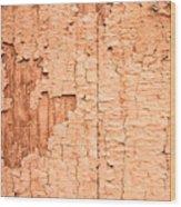 Brown Paint Texture Wood Print