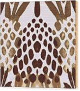 Brown Pineapple Wood Print