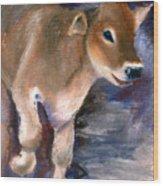 Brown Swiss Calf Aceo Wood Print