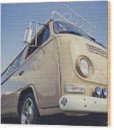 Brown Vw T2 Camper Van Wood Print