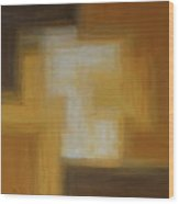 Brown Yellow Abstract Wood Print