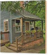 Brownsburg Post Office Wood Print