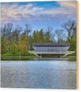 Brownsville Covered Bridge Wood Print