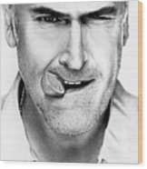 Bruce Campbell Wood Print