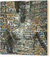 Bruce Lee Mosaic Wood Print