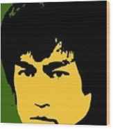 Bruce Lee Pop Wood Print