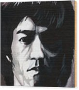 Bruce Lee Portrait Wood Print