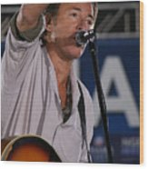 Bruce Springsteen In Cleveland Wood Print