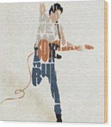 Bruce Springsteen Typography Art Wood Print