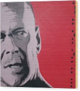 Bruce Willis Wood Print