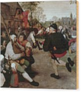Bruegel, Peasant Dance Wood Print