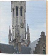 Bruges Belfry 6 Wood Print