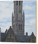 Bruges Belfry 7 Wood Print